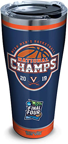 Tervis Virginia Cavaliers 2019 NCAA Basketball Champions Insulated Travel Tumbler & Lid, 30 oz - Stainless Steel, Silver
