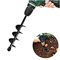 "SuperThinker Auger Drill Bit for Planting, Garden Auger Spiral Drill Bits 1.6"" x 9"" Rapid Planter for Planting Bulb Seedlings&Bedding - Post Hole Digger for 3/25"" to 1/2"" Hex Drive Drill (1.6'' x 9'')"