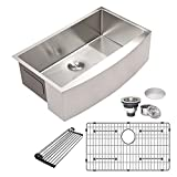 Stainless Farmhouse Kitchen Sink - Mocoloo 33 Inch Stainless Steel...