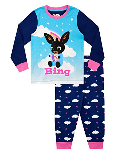 Bing Pigiama a Maniche Lunghe per Ragazze Blu 2-3 Anni