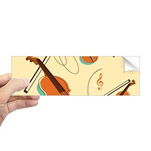 DIYthinker Viool Muziek Instrumenten Patroon Rechthoek Bumper Sticker Notebook Window Decal