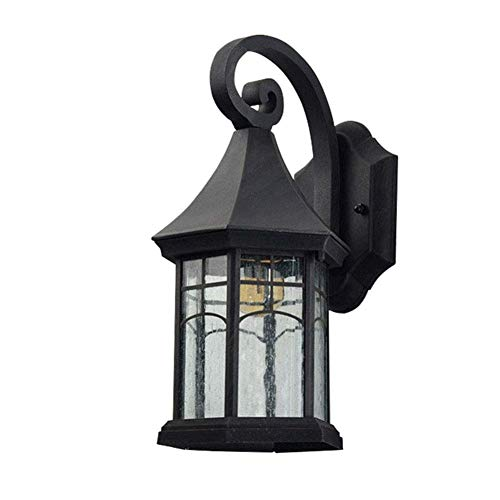 HTZ-M Lámpara de Pared Vintage, lámpara de Pared Impermeable Retro para Patio al Aire Libre, portalámparas E27 para Entrada, Pasillo, jardín, Patio, Negro