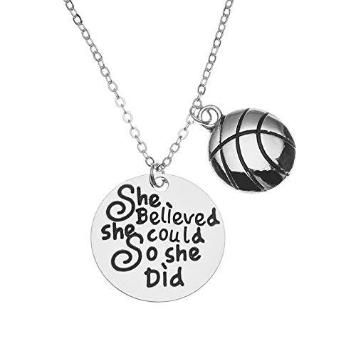 Sportybella Basketball-Halskette, Basketball-Anhänger, für Mädchen