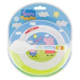 SET MICRO BABY 2 PCS. (CUENCO Y CUCHARA) PEPPA PIG