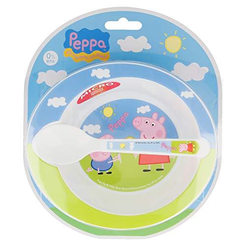 SET MICRO BABY 2 PCS. (CUENCO Y CUCHARA) PEPPA PIG