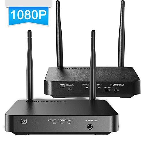 SANNCE 1080P Transmisor HDMI Inalámbrico Extensor 328 pies / 100 metros Compatible con control remoto IR con Transmisor y Receptor