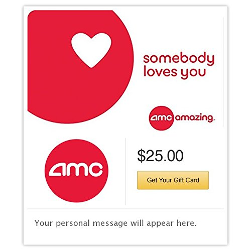 AMC Theatres Somebody Loves You Gift Cards - E-mail Delivery