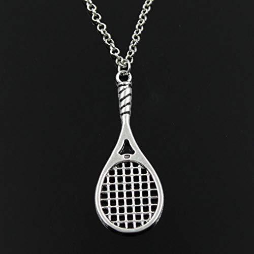 TTDAltd Collar de bádminton Raqueta de Tenis Colgante Cadena Cruzada Redonda sección Collar Largo