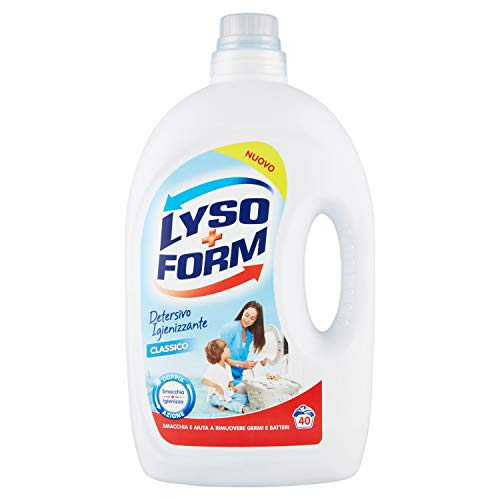 Lysoform Detersivo Igienizzante per Bucato, Classico, 40 Lavaggi (2,6 Litri)
