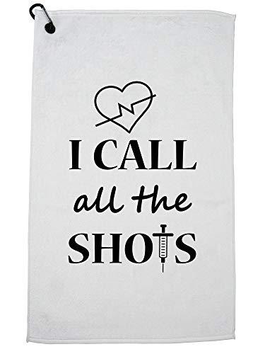 Hollywood-draad ik bel alle schoten - dokter verpleegkundige medische technicus golfhanddoek met karabijnhaak clip