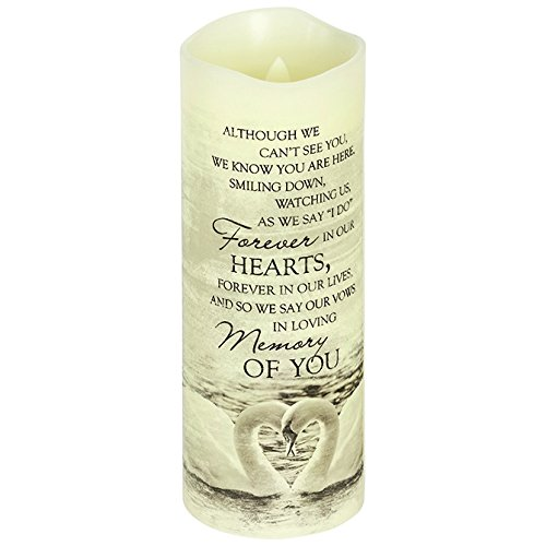 """Carson, Everlasting Glow With Premier Flicker """"In Loving Memory"""" Candle White"""