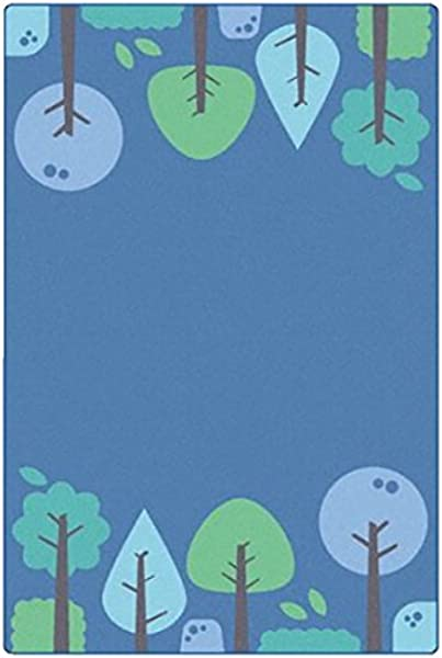 Carpets For Kids 1754 Kidsoft Tranquil Trees Blue Multi