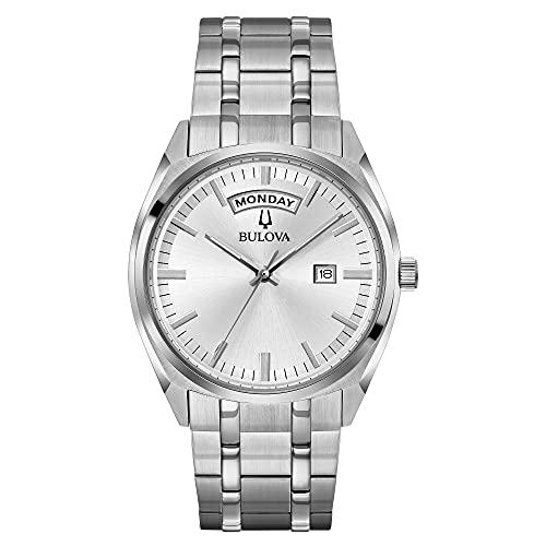 Bulova Men's Classic 39mm Steel Bracelet & Case Quartz Silver-Tone Dial Chronograph Watch 96C127