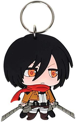 Schlüsselanhänger für Mikasa Ackermann Chibi Figur aus PVC Anime Charakter Cosplay süß schlicht Accessoires niedlich Halloween