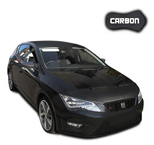 Black-Bull kompatibel mit Haubenbra Seat Leon 3 5F CARBON Steinschlagschutz TUNING