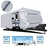 RVMasking Waterproof Travel Trailer Cover 22'1'-24' with Free Adhesive Repair Patch & 4 pcs...