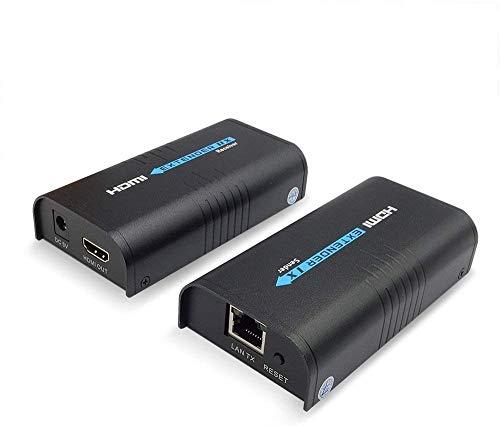 HDMI KVM Extender Router-Schlalter mit Ethernet-Kabel, der Ultra HD 1080p@60Hz USB-Tastatur- und Maussteuerung unterstützt (LKV373 1 x TX+RX)