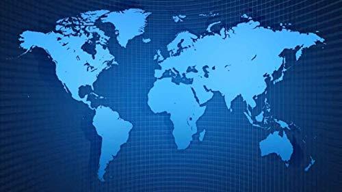 Muismat groot formaat World Map Series Mousepad glad oppervlak | Verbeterde precisie en snelheid | Waterdicht, 800x300x2mm, C