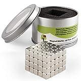 OfficeTree 100 Magnet Würfel Neodym 5x5x5 mm - extra-stark für Whiteboard Magnet-Tafel Pinnwand Kühlschrank - Premium-Qualität
