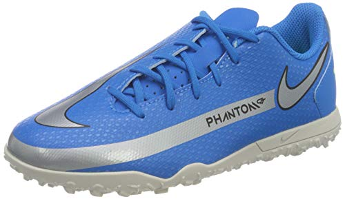 Nike JR Phantom GT Club TF, Zapatillas de ftbol, Photo Blue Mtlc Silver Rage Green Black, 36.5 EU