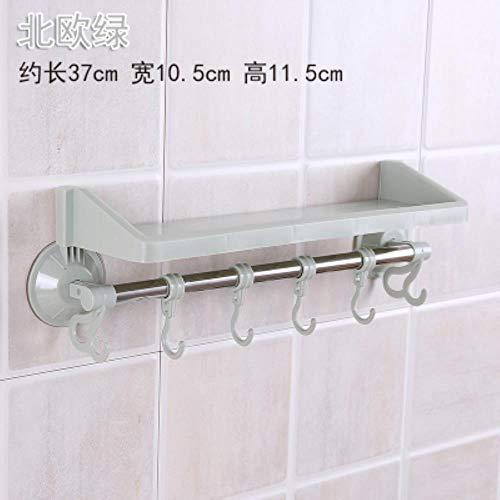1 piezas Durable Suspendido Estante de baño Lavabo Cocina Baño Toalla Soporte Rack Rail Estante Accesorios de baño, verde