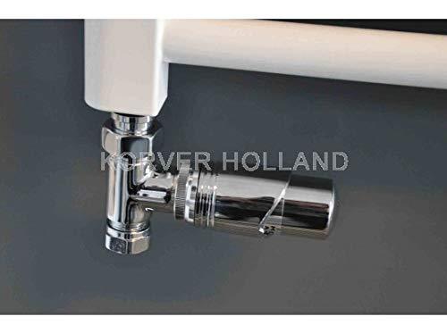 Radiator ventiel complete set incl. thermostaat, recht, verwarming aansluitingsset garnituur