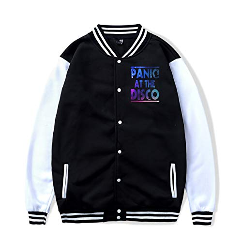 Pani-c at The Dis-co (2) Varsity Jacket Baseball Jacket Lightweight Letterman Jacket Coats Unisex