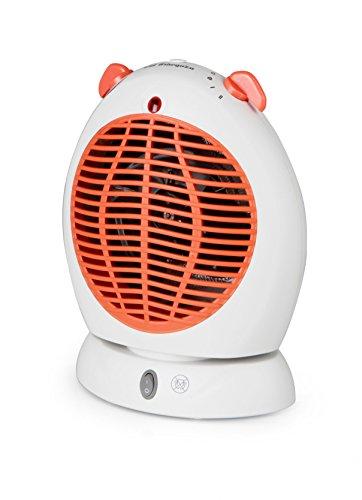 Orbegozo FH 5570 – Calefactor vertical oscilante, temperatura regulable, protección contra sobrecalentamiento, posición aire frío, 2 posiciones de calor, 2000 W