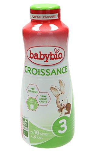 BabyBio Bio Leche de Crecimiento Fórmula Líquida de 10 a 36 meses, 1L, Paquete de 3