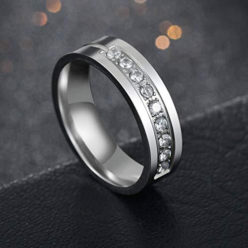 ERDING Fashion Cadeau/3 Kleur Mode 6MM RVS Paar Ring Eenvoudige Cubic Zirkoon Engagement Trouwringen Voor Man Of Vrouw Cadeau
