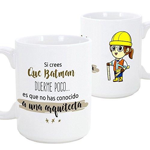 MUGFFINS Taza de desayuno original para regalar a trabajadores profesionales - detalles para arquitectas