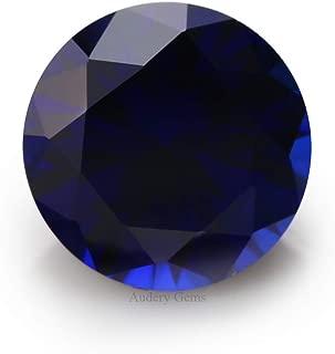 Audery Gemst 34# Blue Round Synthetic Corundum Lab Created Sapphire (5.0mm 10pcs)