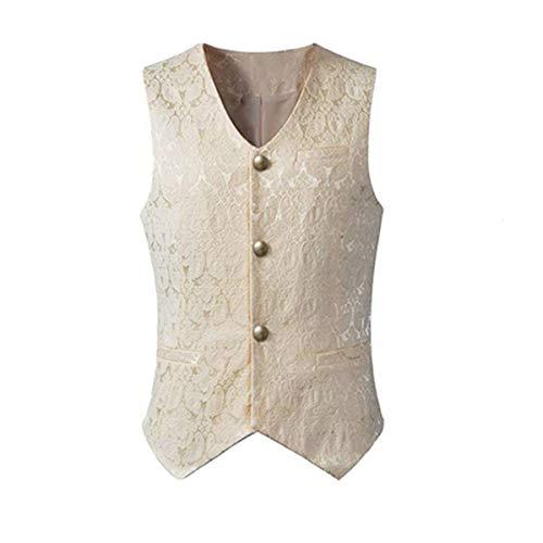 Chaleco gótico Steampunk vintage de un solo pecho Brocado Chaleco uniforme traje formal Tailcoat Chaleco