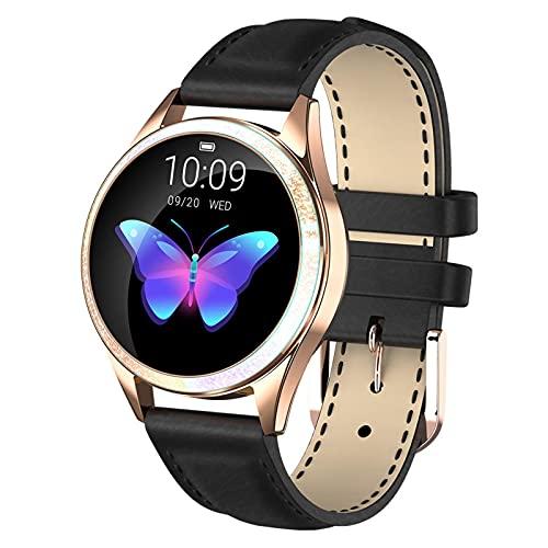 Reloj Inteligente QOHG KW20 para Mujer, frecuencia cardíaca, presión Arterial, podómetro, período Menstrual, Pulsera Inteligente Impermeable multideportiva