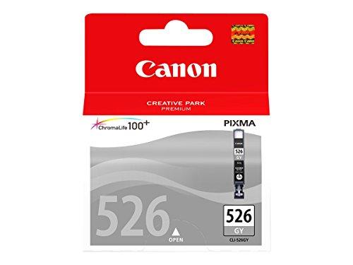 Canon CLI-526 GY Cartucho de tinta original Gris para Impresora de Inyeccion de tinta Pixma iP4850-4950-Ix6550-MG5150-5250-5350-6150-6250-8150-8250-MX715-885-895-MG6150-6250-8150-8250