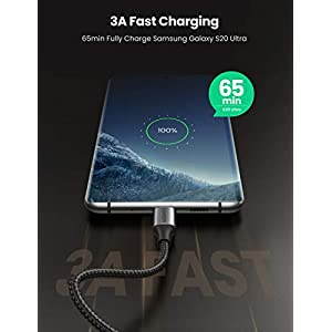 UGREEN Cable USB C a USB C PD Carga Rapida 20V 3A 60W Cargador USB Tipo C 90 Grados PowerDelivery para Macbook Pro 2019, MacBook Air, iPad Pro 2020, Xiaomi Mi 10, Samsung S20 S10, Huawei P40, 2 Metros
