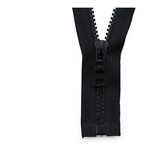 Linyuex Zipper 5# 3pcs Open-end Auto Lock ECO Colorful Plastic Resin Zipper For Clothes Garment (Color : 16, Size : 55 cm)