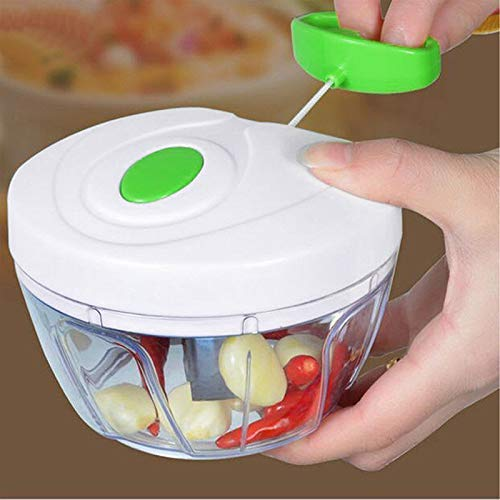 MAMADEV FASHION New Mini Hand Manual Meat Grinder Pull The Rope Garlic Cutter Vegetable Fruit Twist Shredder Chopper