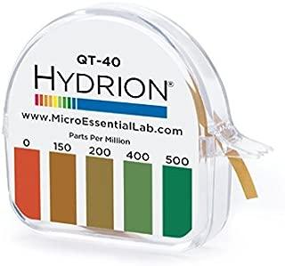 Hydrion QT-40 Quaternary Sanitizer Test Tape 15 feet Roll Quat Color Chart 0-500 ppm Range