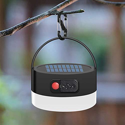 JTENG LED Campinglampe tragbar Zeltlampe mit Karabiner Camping Lantern mit SOS Notfall Strobe-Funktion für Camping, Wandern, Angeln, Laufen, Hund Gehen, Stromausfälle, Notfälle (2000mAh Campinglampe)
