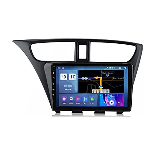Android 10.0 coche Radio Stéreo Para H-onda Civic 2012-2017 Multimedia Player FM Reproductor GPS Navegación IPS Pantalla Táctil Soporte 4G Wifi SWC Carplay Bluetooth DSP,4 Core 4G+WiFi: 2+32GB