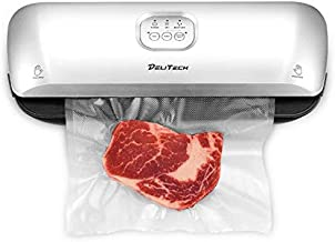 DELITECH Vacuum Sealer Machine with Dry & Moist Mode 3-in-1 and Easy-to-clean Tray, Perfect for Sous Vide, Food Preparation, Food Preservation, for Kitchen & Home Use, 10 Free Bags