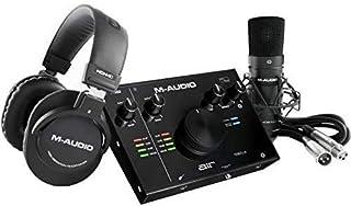 M-Audio DTMセット 2イン/2アウト 24/192 USB オーディオインターフェース・コンデンサーマイク・ショックマウント・XLRケーブル・ヘッドフォン・ソフトウェア付属 AIR 192|4 Vocal Studio Pro