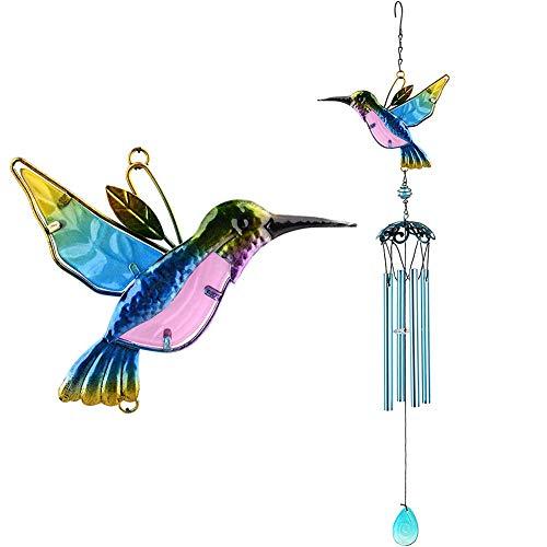 SZWL Campanas de viento,Timbre de Viento con 4 Tubos de Aleación de Aluminio, Campanas de Viento para Regalo de cumpleaños de la decoración del balcón del Patio Interior del jardín,Timbre de Anillo de
