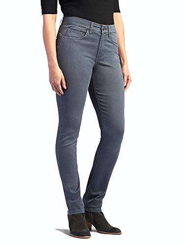 Lee Women's Easy Fit Frenchie Skinny Jean, Smoke, 6 Short