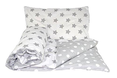 Set de ropa de cama reversible para bebé (2 piezas: funda de edredón y funda de almohada), de la marca Baby's Comfort 21 Talla:70x80cm for cribs / prams / moses baskets