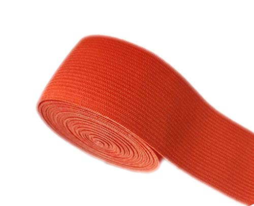 Ninepeak Elastic Bands Spool Sewing Band Flat Elastic Cord, Living Coral, 5 Yards (1-1/2 Inch)