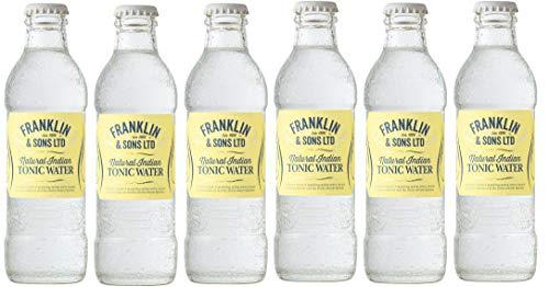 6 Bottiglie di Natural Indian Tonic Water -Franklin & Sons- 200 ml