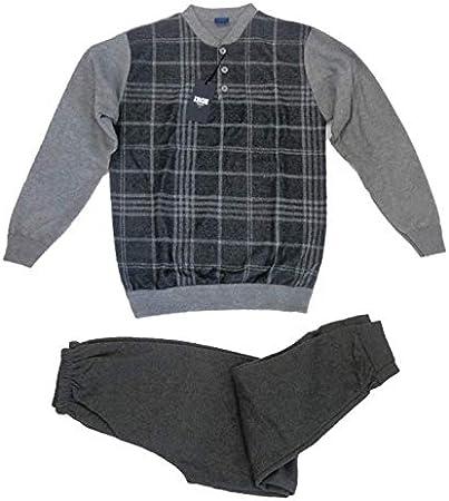 XL L Misure: M XXL Pigiama Uomo Punto Milano UPM1163 Irge Manica Lunga e Pantalone Lungo Grigio, M