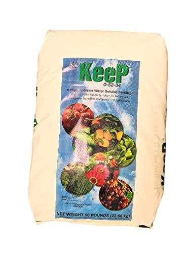 Monopotassium Phosphate Fertilizer 0-52-34 100% Water Soluble Hydroponics'Greenway Biotech Brand' 50 Pounds